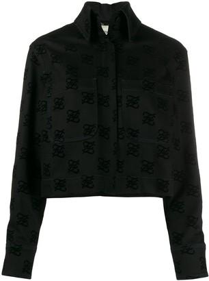 Fendi logo print back-bow denim jacket