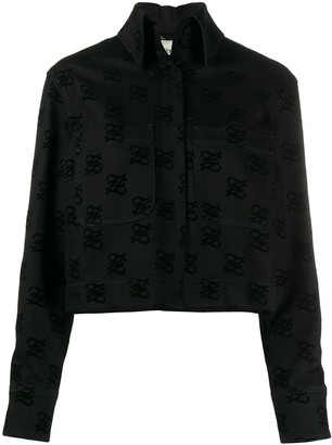 Fendi FF motif back-bow denim jacket