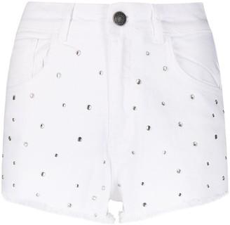 Twin-Set Stud-Embellished Denim Shorts