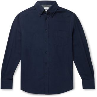 Brunello Cucinelli Button-Down Collar Cotton-Twill Shirt