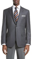 Canali Men's Classic Fit Check Wool Sport Coat