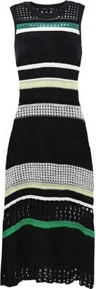 Proenza Schouler Striped Open-knit Silk-blend Midi Dress