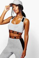 Boohoo Kayla Work Slogan Band Sports Bra