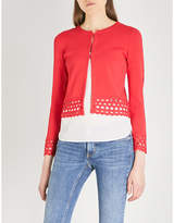 Maje Marseille cutout-detail knitted cardigan