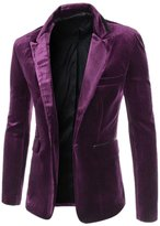Mada Men Long Sleeve Coat One-Button Luxury Suit Solid Blazer Jacket US Small