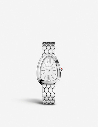 Bvlgari 103141 Serpenti Tubogas stainless steel and opaline watch