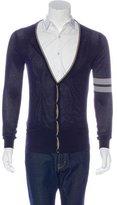 Alexander McQueen Open-Knit Button-Up Cardigan