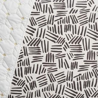 west elm Organic Coco Crib Fitted Sheet - Black