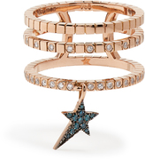 Diane Kordas Diamond & rose-gold Cosmos ring