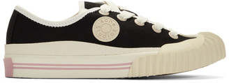 Acne Studios Black Bla Konst Canvas Logo Patch Sneakers