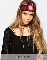 Reclaimed Vintage Bead Head Dress