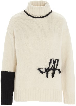 Off-White Turtleneck Knitted Jumper