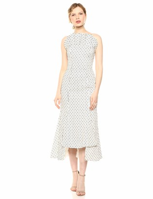 C/Meo Women's Even Love Embroidered Strapless Fitted Midi Dress