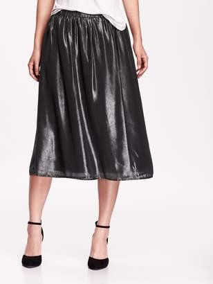 Old Navy Metallic Midi Skirt