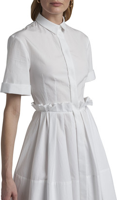 Alexander McQueen Poplin Button-Down Short-Sleeve Dress