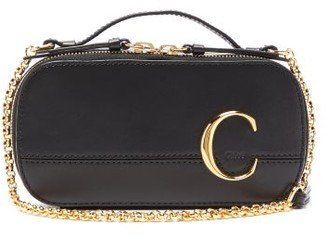 Chloé The C Structured Leather Cross-body Bag - Black