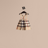 Burberry Check Cotton Skirt with Detachable Straps