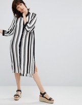 Minimum Lizanne Striped Midi Dress