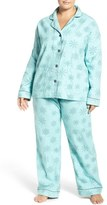 PJ Salvage Plus Size Women's Print Flannel Pajamas