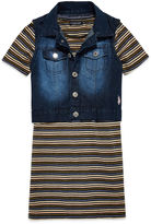 USPA U.S. Polo Assn. Short Sleeve Layered Top - Big Kid
