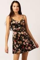 Azalea Velvet Floral Mini Dress