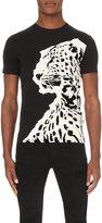 Just Cavalli Flocked-leopard Jersey T-shirt