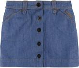 See by Chloè Denim mini skirt