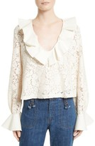 See by Chloe Women's Ruffle Lace Blouse