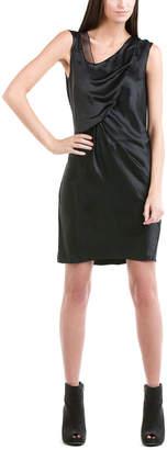 Helmut Lang Black Semi Sheer Trim Dress