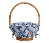 Pottery Barn Kids Camo Easter Basket Liner Blue, Small