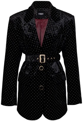 Chaenewyork New To Classic Tailored Jacket Black Velvet