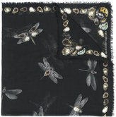 Alexander McQueen Dragonfly printed scarf - women - Silk/Modal - One Size