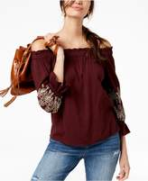 INC International Concepts I.N.C. Bell-Sleeve Off-The-Shoulder Top, Created for Macy's