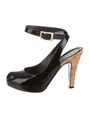 Fendi Patent Leather Sandals Black
