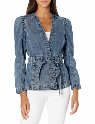 Rebecca Taylor Women's Belted wrap Front Jacket