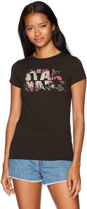 Star Wars Women's Logo Antique Floral Flower Crew Neck Graphic T-Shirt