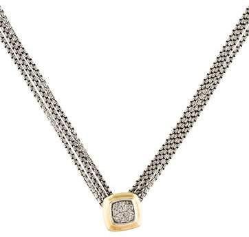 David Yurman Diamond Pave Albion Pendant Necklace