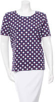Carven Clover Print Short Sleeve Top w/ Tags