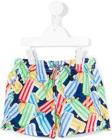 Mc2 Saint Barth Kids - ice lolly print swim shorts - kids - Polyamide/Polyester/Spandex/Elastane - 6 yrs