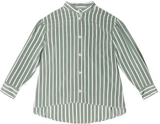 Brunello Cucinelli Kids Embellished striped silk shirt
