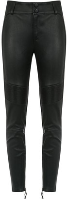 Tufi Duek Panelled Leather Pants