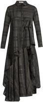 Palmer Harding PALMER/HARDING Extended waterfall-hem cotton and silk shirt