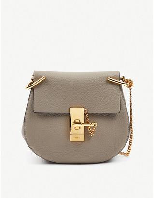 Selfridges Chloe Drew textured-leather shoulder bag