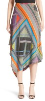 Etro Women's Patchwork Print Asymmetrical Skirt