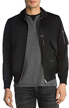 The Kooples Light Fabric and Chain Jacket