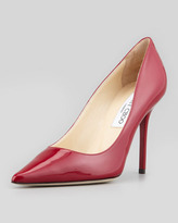 Jimmy Choo Abel Patent Pointy Pump, Red