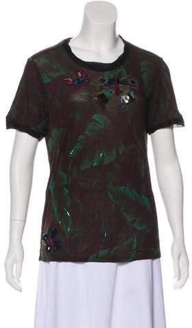 Lanvin Embellished Short Sleeve Top