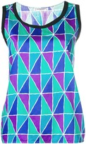 Saint Laurent Pre Owned geometric print tank top