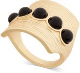 INC International Concepts Gold-Tone Black Stone Matte Statement Ring, Only at Macy's