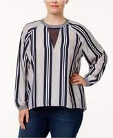 Melissa McCarthy Trendy Plus Size Illusion Blouse